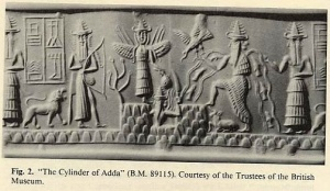 Sumerian pottery cylinders provide the earliest depiction, 5000 years old, of 'flying beings' commonly referred to as angels.