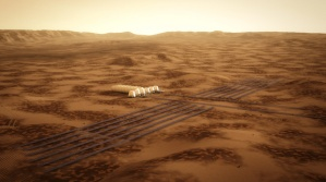Image of possible Mars base