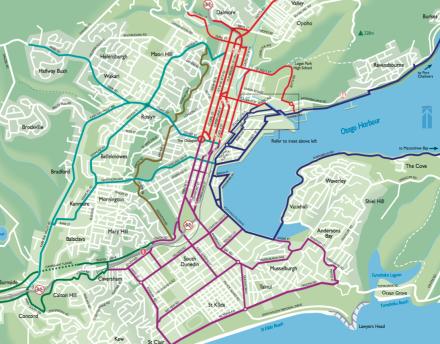 Dunedin city cycle network